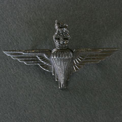 Parachute Regiment Cap Badge - QC - Darkened