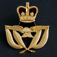 RAF Warrant Officers cap badge QE2