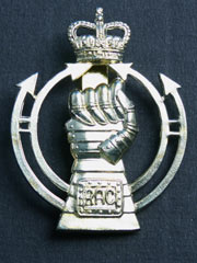 Royal Armoured Corps (QC) Cap Badge