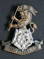 Yorkshire Regiment Bronze effect Cap Badge