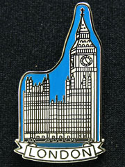 Houses of Parliament - Big Ben Lapel Badge