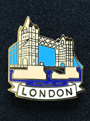 London Tower Bridge Lapel Badge