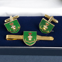 Green Howards Cufflink and Tiepin set