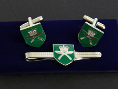 Gurkhas Shield Cufflinks and Tiepin Set