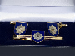 Irish Guards tiepin and cufflink set