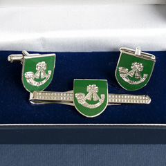 Light Infantry Regiments boxed cufflink and tie bar