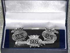 Merchant Navy boxed cufflink and tie bar