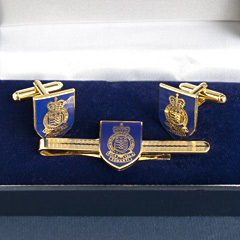Royal Army Ordnance Corps cufflinks and tiepin set