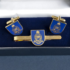 Royal Horse Artillery Cufflinks and Tiepin Set