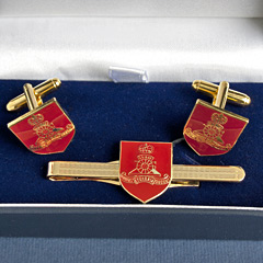 Royal Artillery boxed cufflink and tie bar