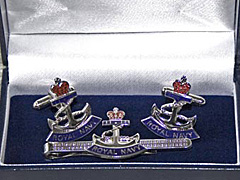RN Rope and Anchor boxed cufflink and tie bar