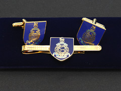 Royal Marines Blue Cufflinks and Tiepin Set