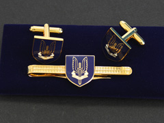 SAS Blue Shield Cufflinks and Tiepin Set
