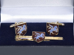 Airborne Regiment boxed cufflink and tie bar