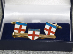 England St.George Cross boxed cufflink and tie bar