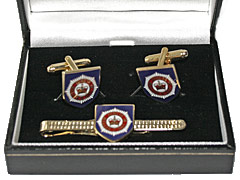 Guards Division tiepin and cufflink set