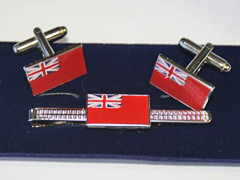 Merchant Navy cufflink and tiepin set