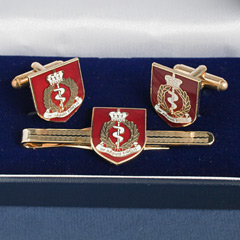 RAMC boxed cufflink and tie bar