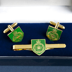 Royal Green Jackets cufflink and tiepin set