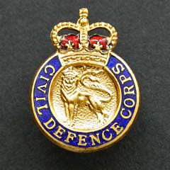 Civil Defence Corps Badge