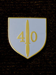 40 Commando boxed Lapel Badge