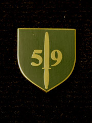 59 Commando lapel badge