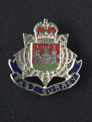 East Surrey lapel badge