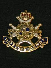 Notts and Derby Regiment lapel badge