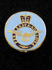 RAF round lapel badge