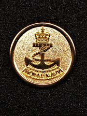Royal Navy gold coloured lapel badge
