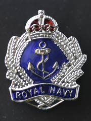Royal Navy Crown and Anchor lapel badge
