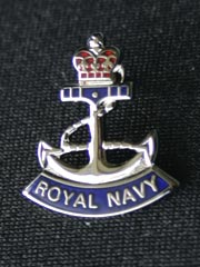 Royal Navy Rope and Anchor small lapel badge