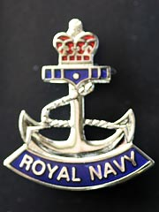 Royal Navy Rope and Anchor lapel badge