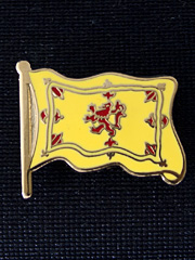 Scottish Lion Rampant Flag Lapel Badge