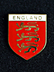 English 3 Lions lapel badge