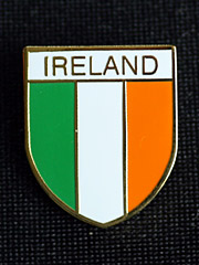 Irish flag colours lapel badge