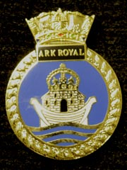 HMS Ark Royal navy crest lapel badge