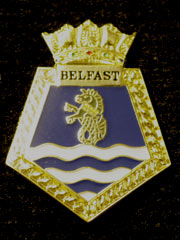 HMS Belfast navy crest lapel badge