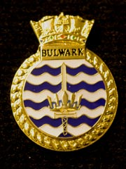 HMS Bulwark navy crest lapel badge