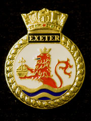 HMS Exeter navy crest lapel badge
