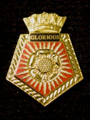 HMS Glorious navy crest lapel badge