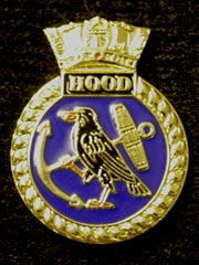 HMS Hood navy crest lapel badge