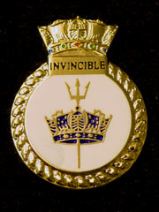 HMS Invincible navy crest lapel badge