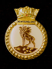 HMS Newfoundland navy crest lapel badge