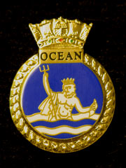 HMS Ocean navy crest lapel badge