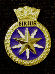 HMS Sirius navy crest lapel badge