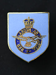 RAF lapel badge blue enamel type