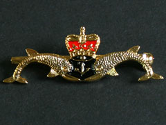 Submariners twin dolphins badge