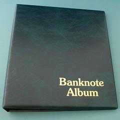 Banknote Display and Storage Album