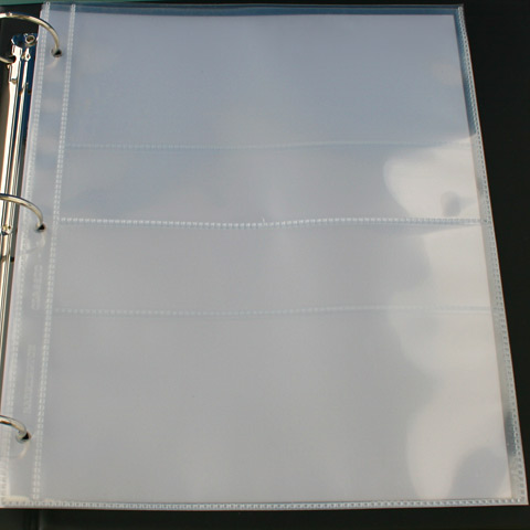 Banknote Display Pages for 3 Ring Binder